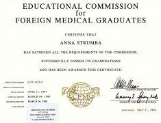 ECFMG Certificate (1998)