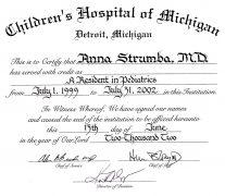 Children's Hospital of Michigan Residency (2002)