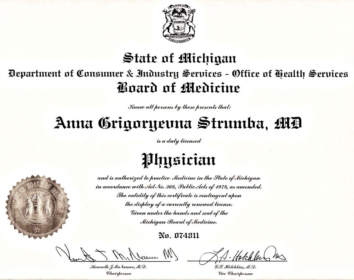 Anna Strumba Md Doctor Strumba