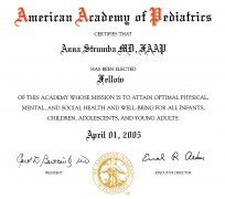 Fellow of The American Academy of Pediatrics (2005)